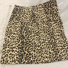 HIGH WAIST MINI SKIRT SEXY Leopard PRINT Med 96 Cotton,4 Spandex Made USA