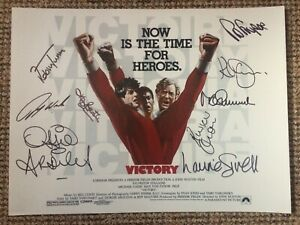 Escape To Victory Signed 16x12 Print By 9 With Letter Of Guarantee