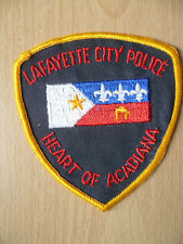 Patches:LAFAYETJE CITYE HEART OF ACADIANA POLICE PATCH(NEW, apx.4x 3.10)