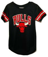 Chicago Bulls NBA UNK Black Print Polyester T-Shirt Mens Size Small