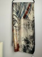 Authentic Chanel Silk Scarf Wrap Texas Dallas Collection NWT Rare