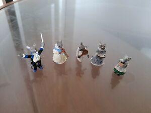 Set of miniature  Mice x 5 metal playing instruments etc