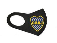 NEW ARGENTINA SOCCER BOCA JUNIORS UNISEX FACE MASK FOOTBALL BLACK WASHABLE MASK