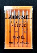 """Genuine Janome Needle  """"Leather""""  Mixed Sizes  5/Pack"""