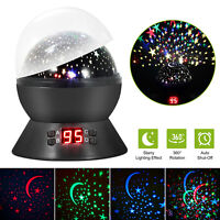LED Music Baby Night Light Rotating Star Projector Lamp Children Gift USB Charge