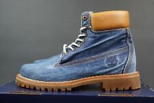 TIMBERLAND 6 INCH PREMIUM DENIM BOOTS SIZE UK-6.5 EU-40 LIMITED EDITION A1B43 DS