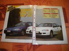 ESSAI DETAILLE....HONDA CIVIC 1.5 VEi / LSi ........1992