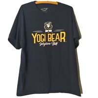 Yogi Bear Jellystone Park Men's Large T Shirt Hagerstown Maryland Navy Blue Camp