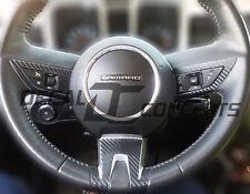 2010-2012 Camaro Black Carbon Fiber Full Steering Wheel Accent Decal Cover Wrap