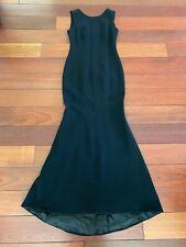 Dolce & Gabbana Black Wool Gown Size 42