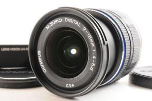 【TOP MINT+】OLYMPUS M.ZUIKO DIGITAL 9-18mm F/4-5.6 ED AF Lens +LH-55B Hood JAPAN