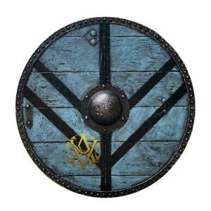 "Medieval Battle Shield Best Wooden Shield Vintage 24"" Viking Shield Larp Antique"
