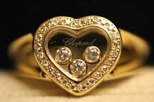 Chopard Happy Diamonds 18ct Yellow Gold Ring 28 Diamonds Total 0.27ct 82/4502-20