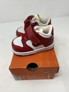 Vintage Baby Nike Dunk Low ND (TD) 2005 Red 310571-161 Size 2c NOS NEW