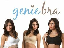 3-Pack Small Black White & Tan Classic Genie Bra & Pads As Seen On TV