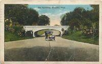 """Memphis Tennessee~Vintage Car on """"The Speedway""""~1917 Postcard"""