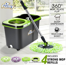 360 Degree Spin Mop Bucket System Microfiber Mop with Easy Wringer Bucket