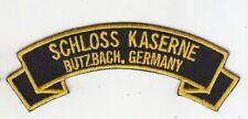 """Schloss Kaserne, Butzbach Germany embroidered 4"""" scroll patch"""
