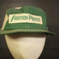 Vintage K Brand Patch Trucker Hat Cap Mesh Green Snapback Abitibi Price White