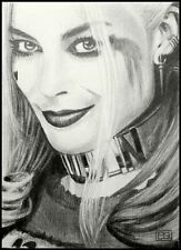 ACEO original drawing • Harley Quinn • Margot Robbie •  SKETCH CARD