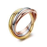 Damenring Dreierring gelbgold silber rosegold 750 Gold 18Karat vergoldet R2515L