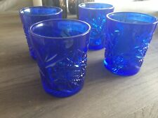 More details for libbey blue glasses/tumblers x 4
