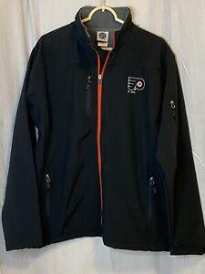 Philadelphia Flyers Mens NWOT Large Fleece Lined Soft Shell Jacket AB1 1042