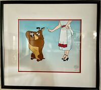 """WB 1994 MARC ANTONY & PUSSYFOOT SERICEL LIMITED EDITION """"FEED THE KITTY"""" CARTOON"""