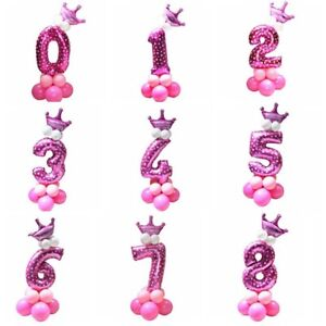 """16"""" INCH Large number Foil Balloons Air Pannu Design Baloon Birthday baby shower"""