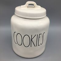 Rae Dunn Artisan Collection COOKIES Cookie Jar Canister Container Magenta NEW