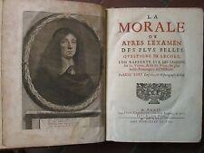 BARY : LA MORALE OU APRES L'EXAMEN DES PLUS BELLES QUESTIONS DE L'ECOLE, 1669.