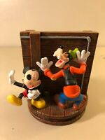 Disney Haunted Mansion Spinning Base Figurine Mickey Goofy Donald As/Is - RARE!