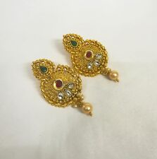 Gold Plated lovable New Set. India Jewelry Earrings Stunning Gold Color