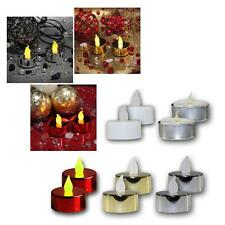 Set of 2 LED Tea Lights Flickering Tea Candle Tealight Candles LED Flameless