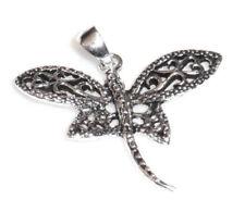 Libelle Anhänger Damen + Kind 925 Sterling Silber filigran Neu Dragonfly Pendant