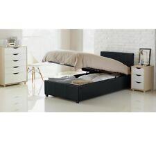 Hygena Lavendon Ottoman Single Faux Leather Bed Frame- Black