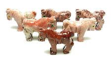 CARVED - Red DOLOMITE HORSE Spirit Animal Totem w/ Card - Healing Reiki Stone