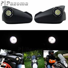 Black Vision LED Handguards Hand Guard 8 Watts For ATV MX Off-Road Dual Road KTM