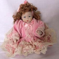 Piccola bambola doll  poupee cm 21 ceramica bisquit collezione vintage prspmr