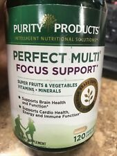 Purity Products PERFECT MULTI FOCUS SUPPORT 120ct Super Fruit/Vegetables EX4/22