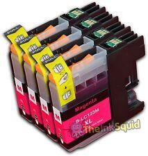 4 Magenta LC123 Ink For Brother Printer MFCJ4510DW MFCJ4610DW MFCJ470DW non-OEM