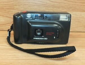 Genuine Minolta Freedom 50 Focus Free DX Auto 35mm Film Camera **FOR PARTS**