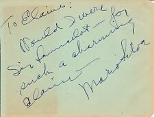 Mario Silva - autograph inscription and signature by the opera conductor, c 1941