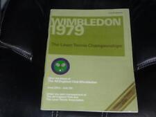 1979 WIMBLEDON TENNIS FINALS PROGRAM BJORN BORG MARTINA NAVRATILOVA EX-MINT