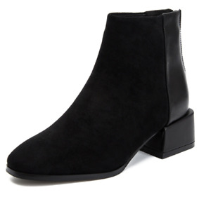 New Ladies Short Boots Casual Thick Heel Boots Ladies Single Boots Shoes