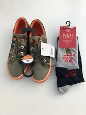 boys trainers 3UK And Twin Pack Socks