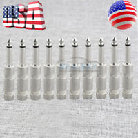 10pcs 1/4 MONO TS Heavy Duty Male Audio Speaker Guitar Cable Connector Plug JACK