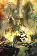 "The Legend Of Zelda Twilight Princess Games Poster Silk Decor 24x36"" LOZ13.1"