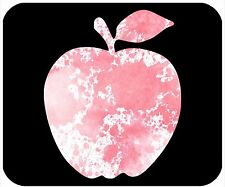 MOUSE PAD CUSTOM PERSONALIZED THICK MOUSEPAD-APPLE WITH PINK WATERCOLOR DESIGN