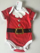 BNWT Baby Boys/Girls 000 Target Christmas Santa Suit Short Sleeve Romper Suit